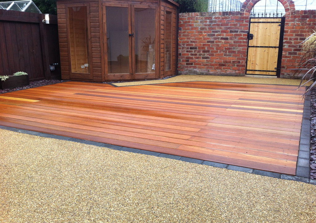 Ashwood services landscapers landscaping driveways for Garden decking and grass